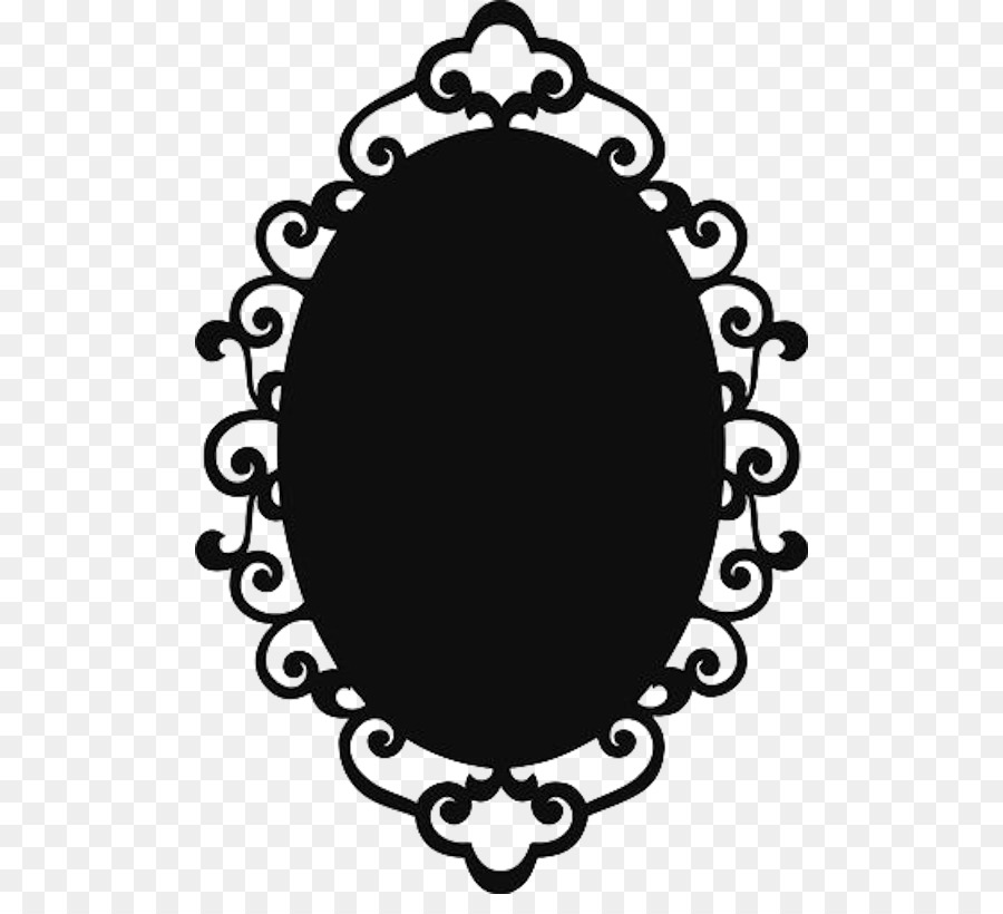 Stencil Picture Frames Mirror Silhouette - mirror png download - 550 ...