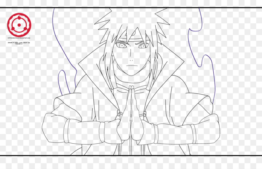 Minato Namikaze Naruto Uzumaki Drawing Line art - naruto png dibujo ...