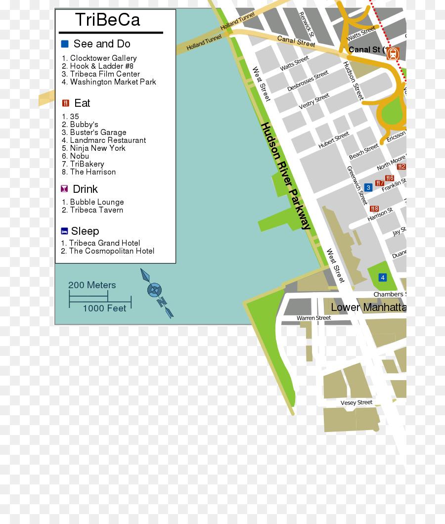 Tribeca, SoHo Und Der Canal Street Map 0 - Anzeigen png ...