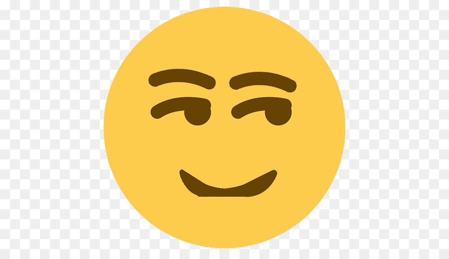 Smirk face text