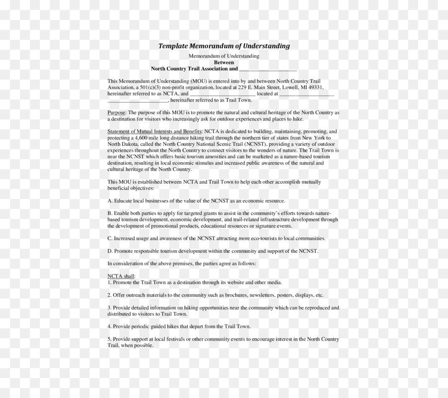 document memorandum of understanding contract template mou png