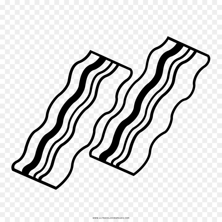 Bacon stock photography drawing black and white bacon