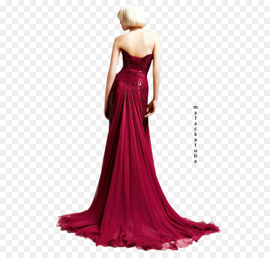 Gown Woman in Evening Dress Versace - dress png download - 613*850 ...