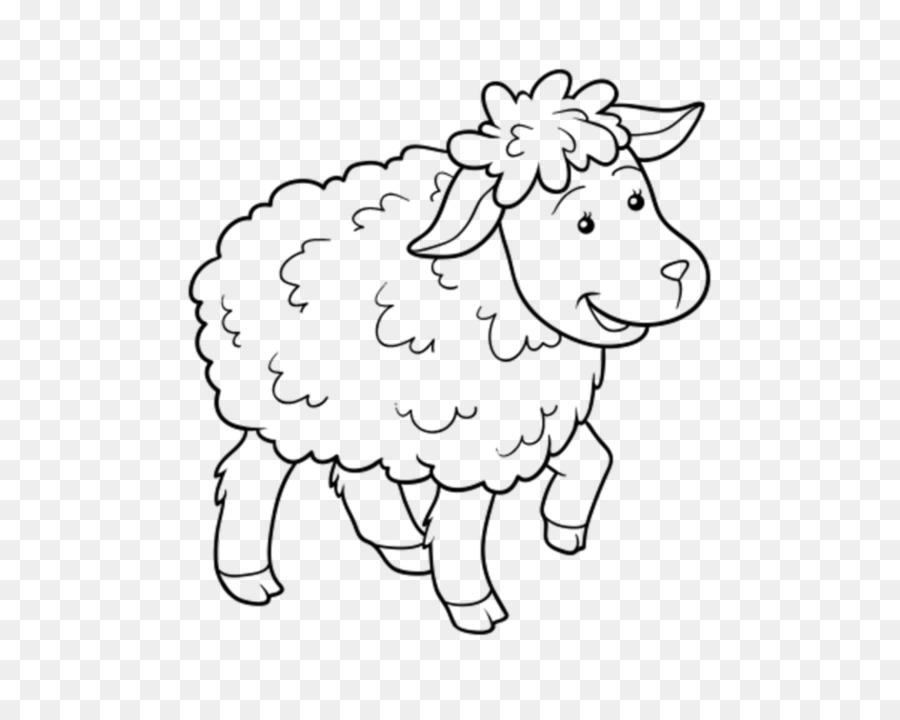 Domba Buku Mewarnai Gambar Kambing Domba Unduh Putih Garis Seni