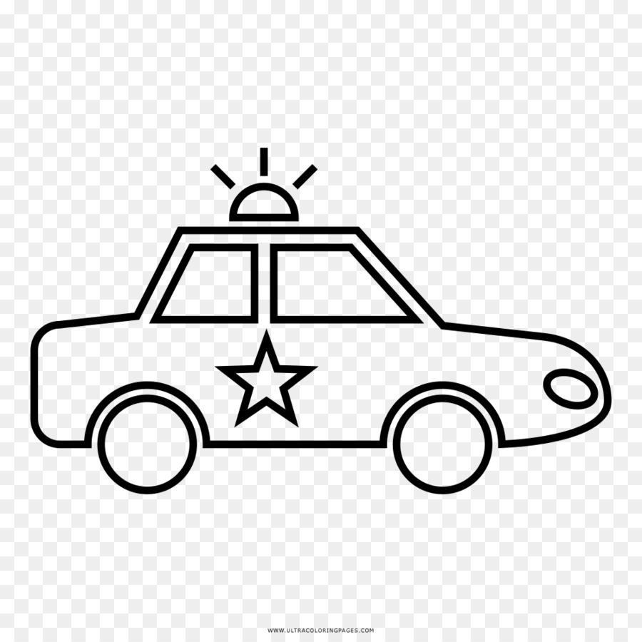 El coche de la policía Dibujo para Colorear libro - coche Formatos ...