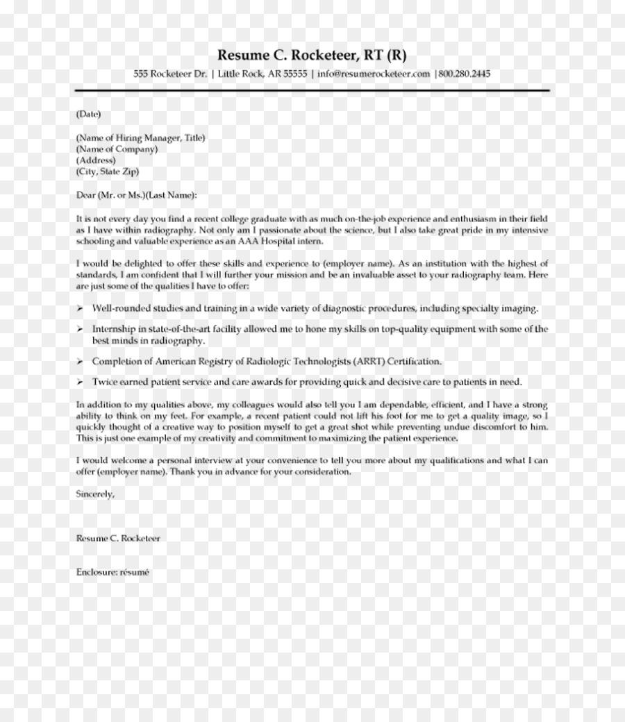 Radiógrafo de Cubierta del Curriculum vitae carta de Radiología de ...