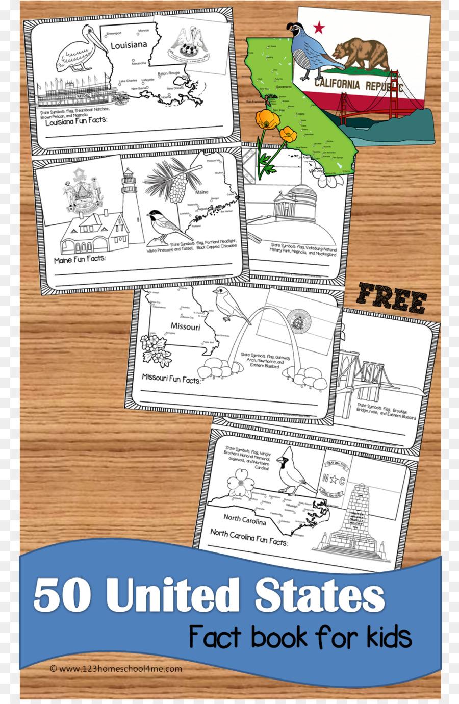 North Carolina U.S. state California Paper Curriculum - Book map png on