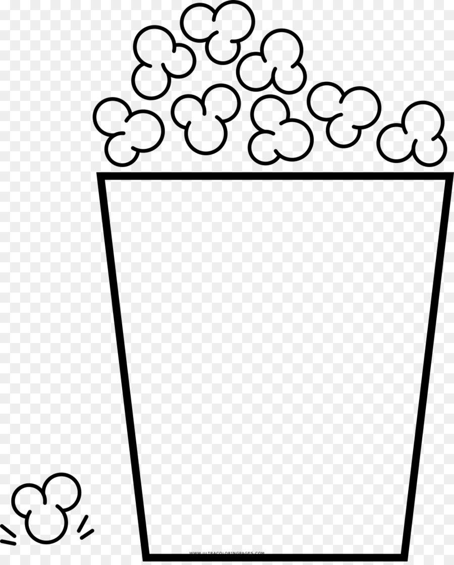 Popcorn Boyama Kitabı Mısır şölen Junina çizim Patlamış Mısır Png