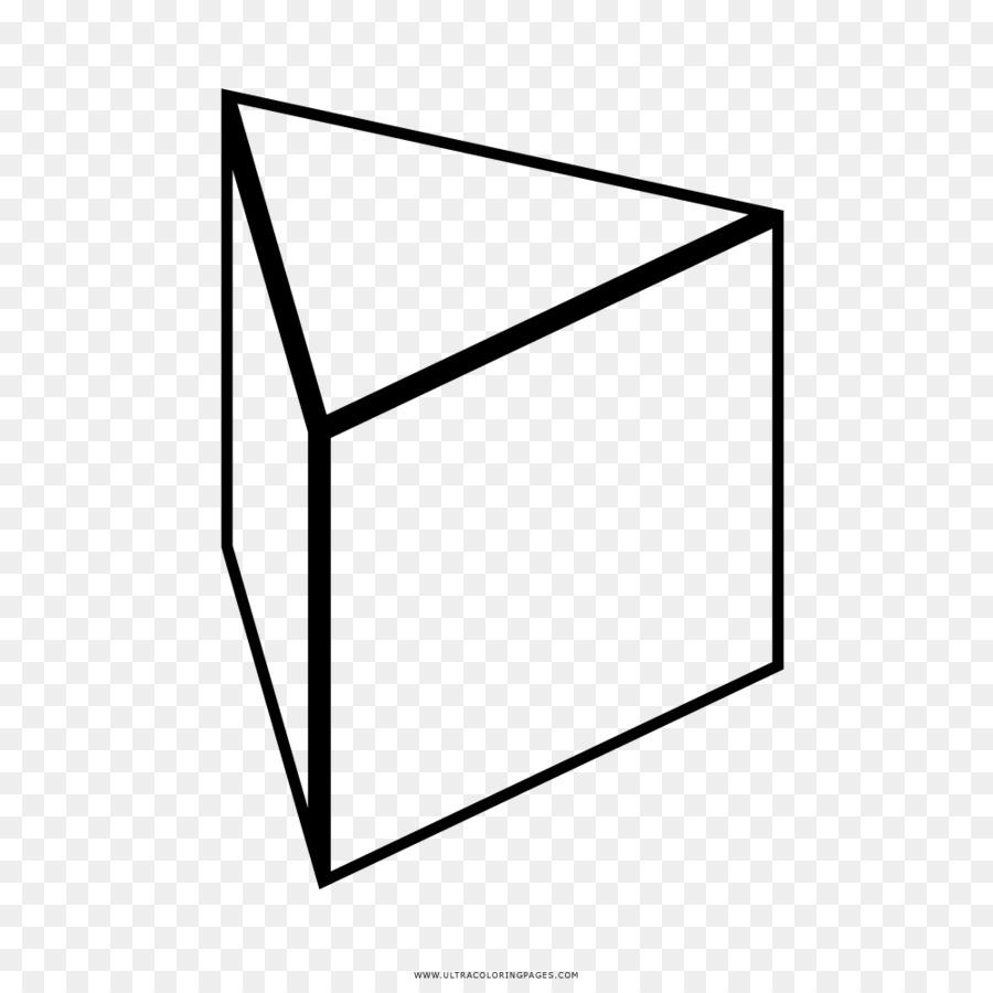 Prisma Triangular Triángulo Dibujo para Colorear libro - triángulo ...