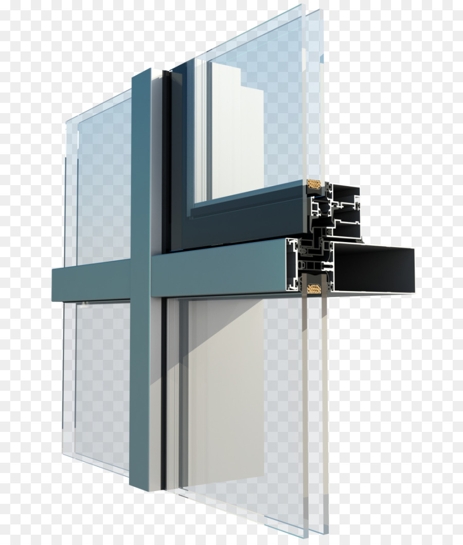 Window Facade Glass Curtain Wall System Curtain Wall Png Download