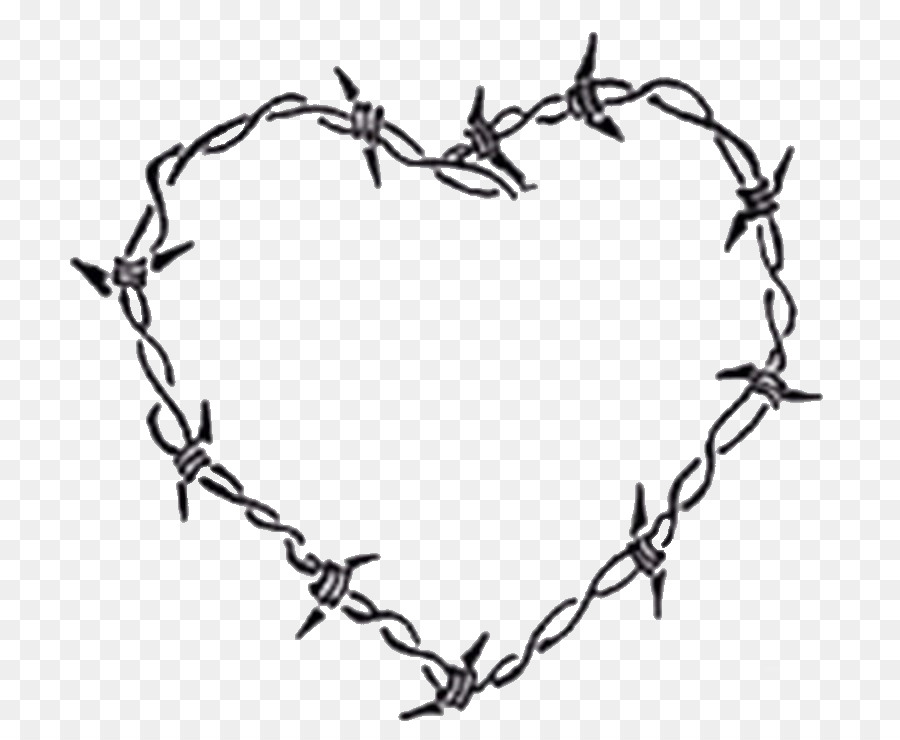 Barbed Wire Drawing Heart Others Png 800 740 Free Transpa
