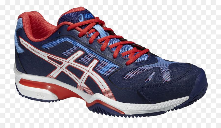asics blue court shoes