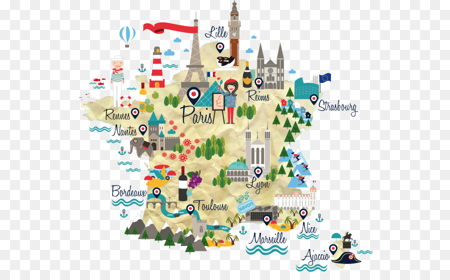 Map Of France Cartoon.France Map French Information Map Infographic Png Download 600