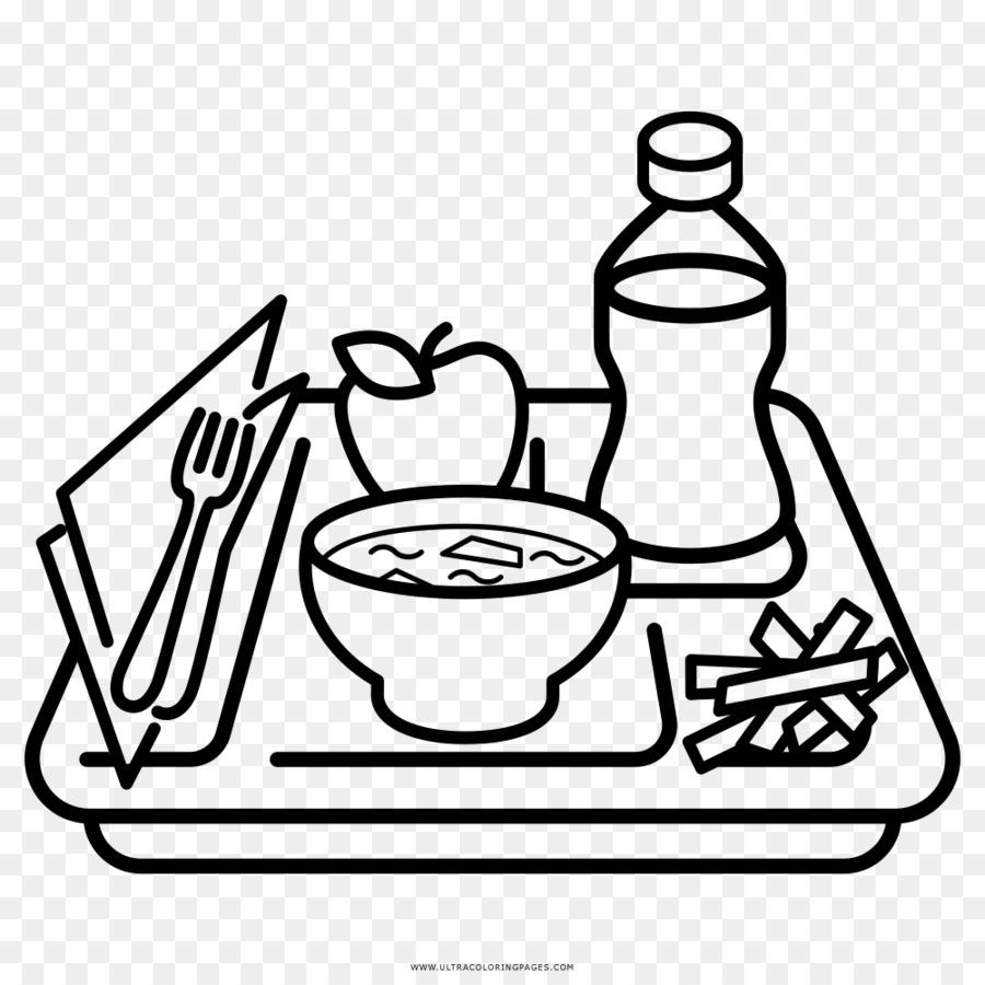 Tray Makanan Buku Mewarnai Menggambar Restoran Makan Siang Unduh