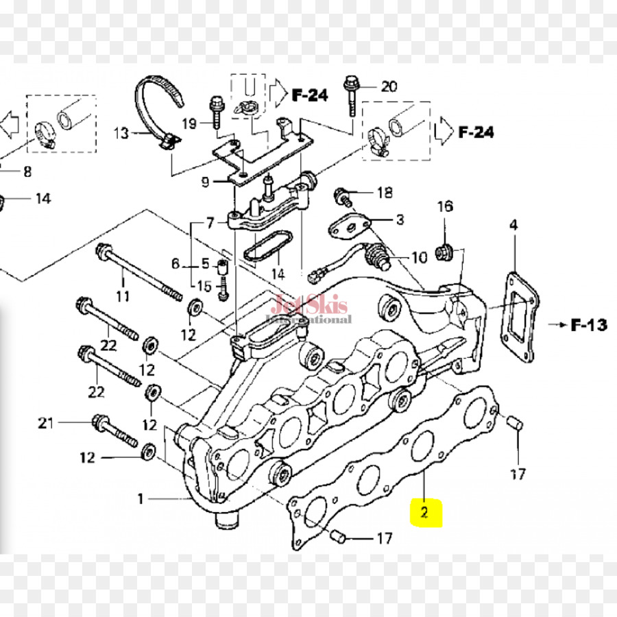 Honda Car Wiring diagram Exhaust system Personal water craft - honda