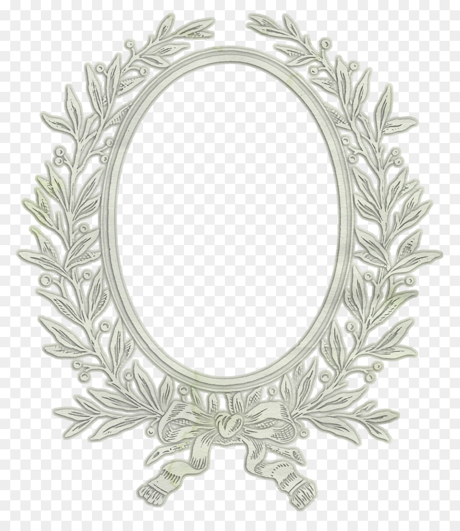 Silver Picture Frames White Oval - silver png download - 859*1024 ...