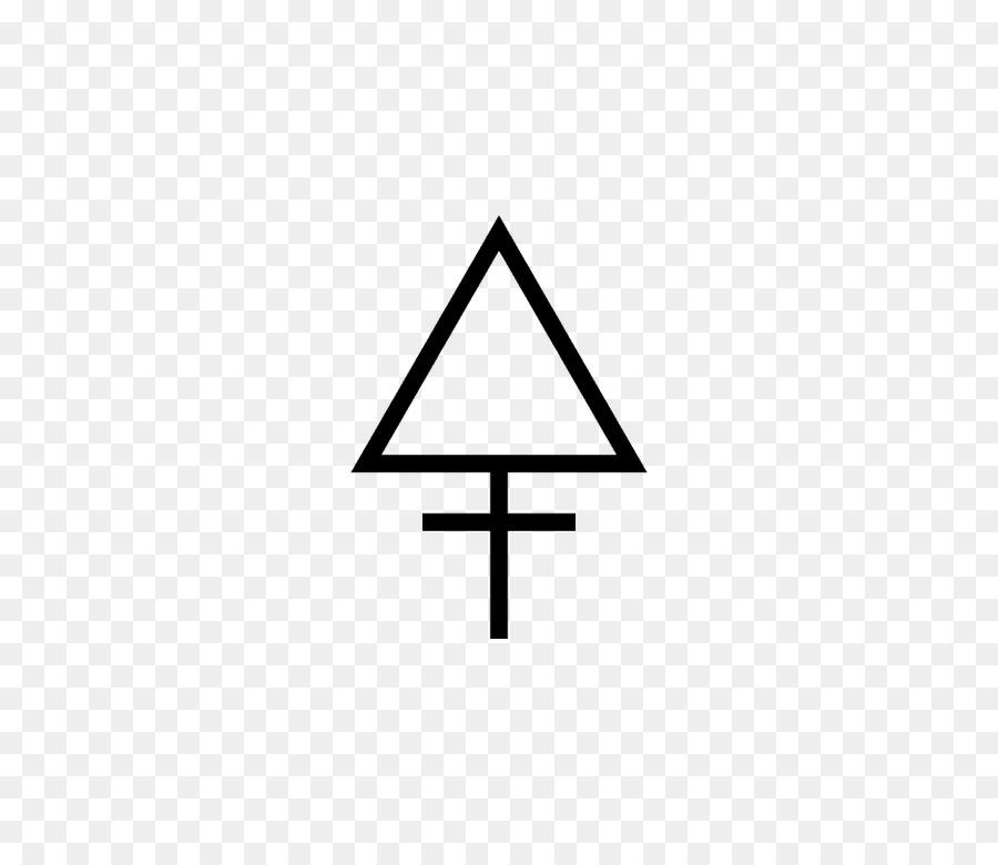 Alchemical Symbol Alchemy Sulfur Triangle Symbol Png Download