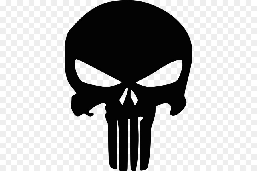 Punisher Calcomanía De La Bandera Pirata Plantilla - cráneo Formatos ...