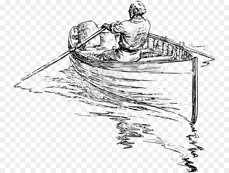 Rowing Drawing Boat Clip Art