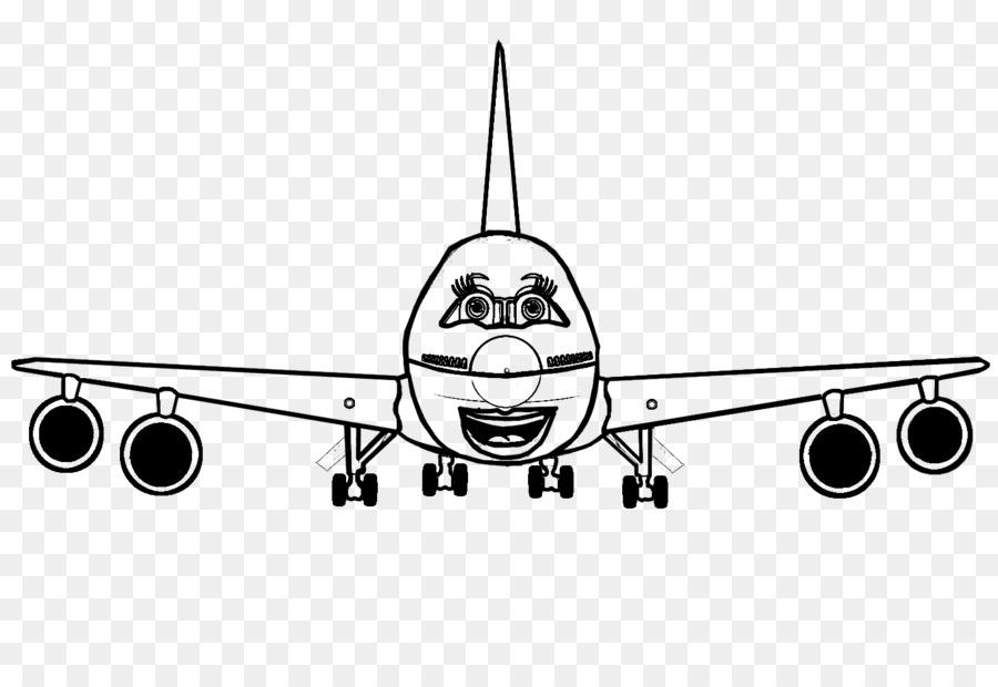 Amplio avión Boeing 747 Avión de Airbus aviones Jet - avión png ...