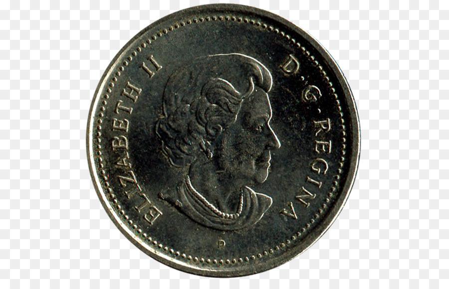 Viertel Euro Münze 50 Cent Stück Kanadischer Dollar Münze Png