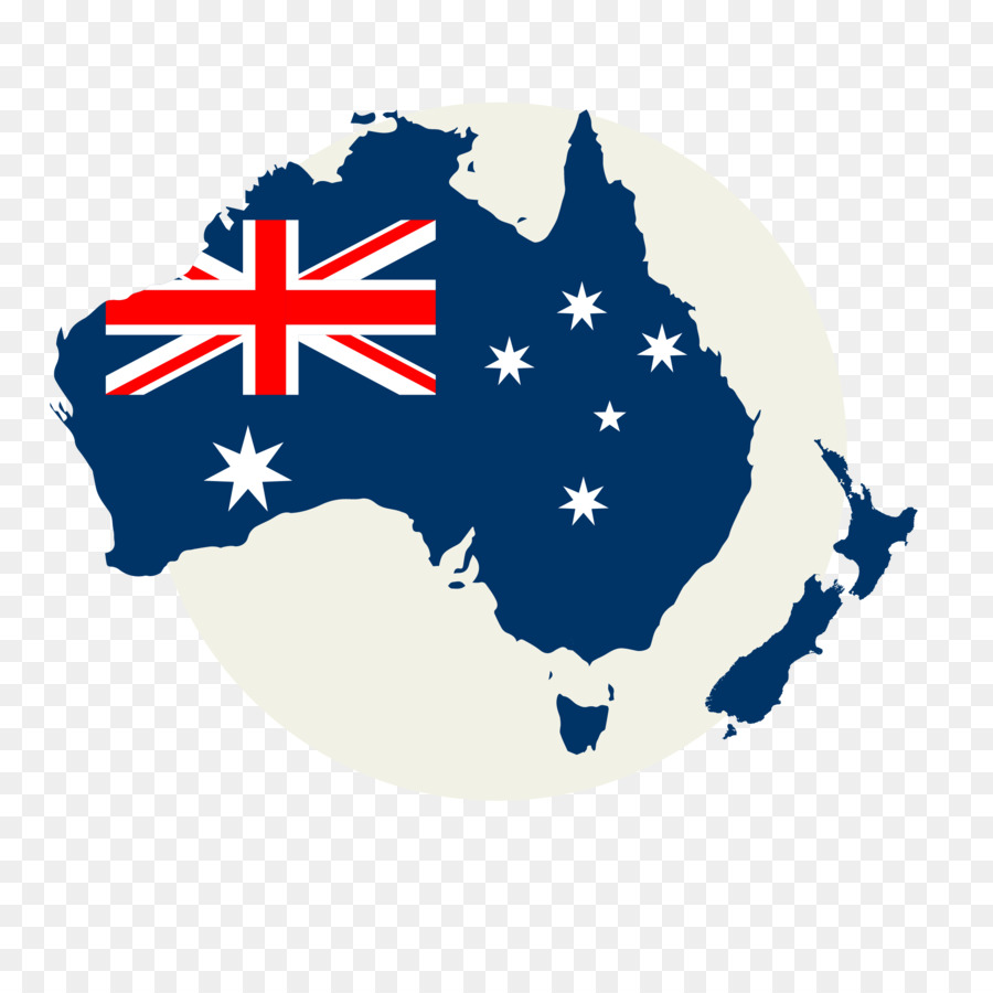 Flag Of Australia Map Australia Png Download 2134 2134 Free