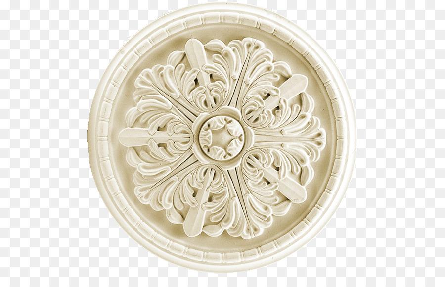Rosette Decoración Stucco Ceiling Cornice - balaustrada de talla ...