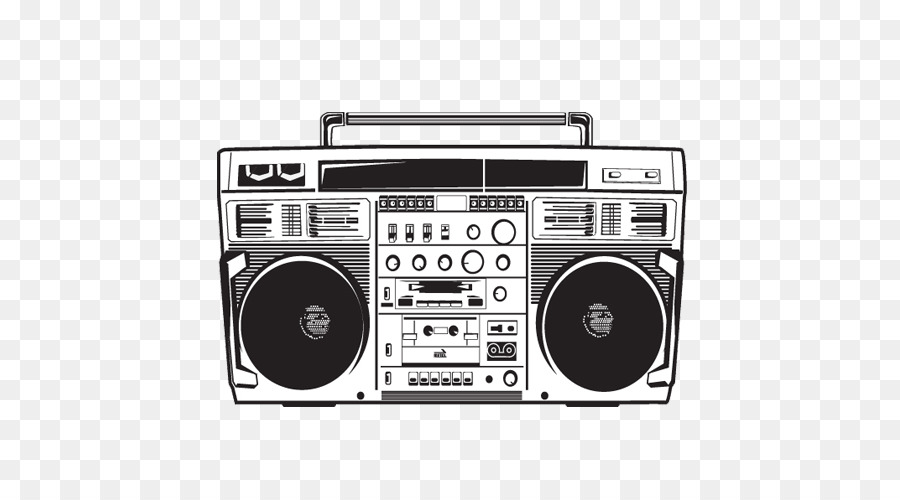 boombox drawing stereophonic sound boombox png download 500 500
