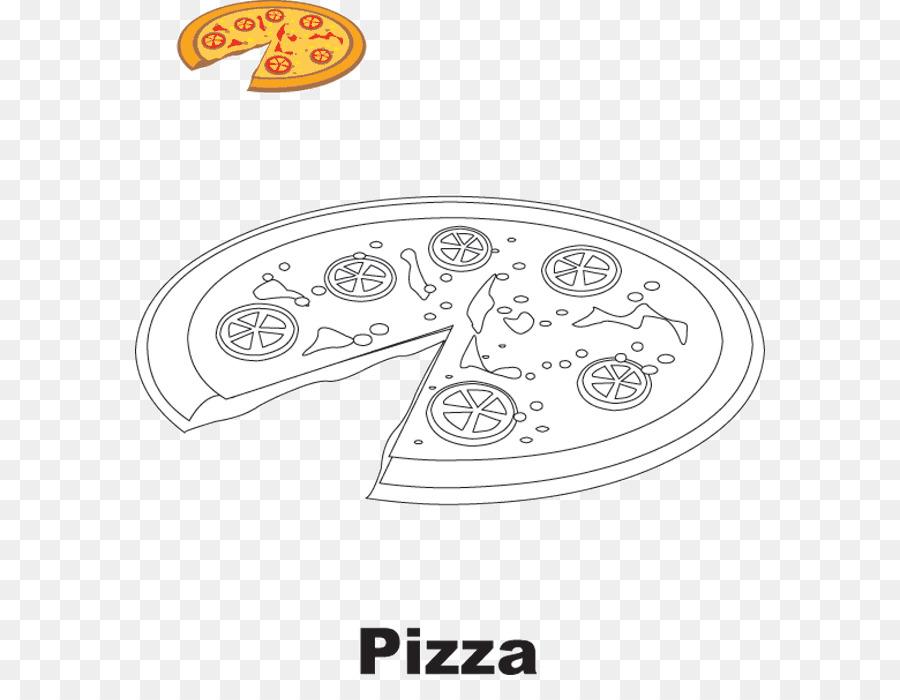 Pizza de Dibujo Comida libro para Colorear de Pepperoni - pizza png ...