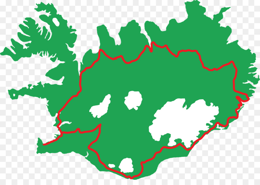 Southern Region, Iceland Vector Map Blank map - map png download ...