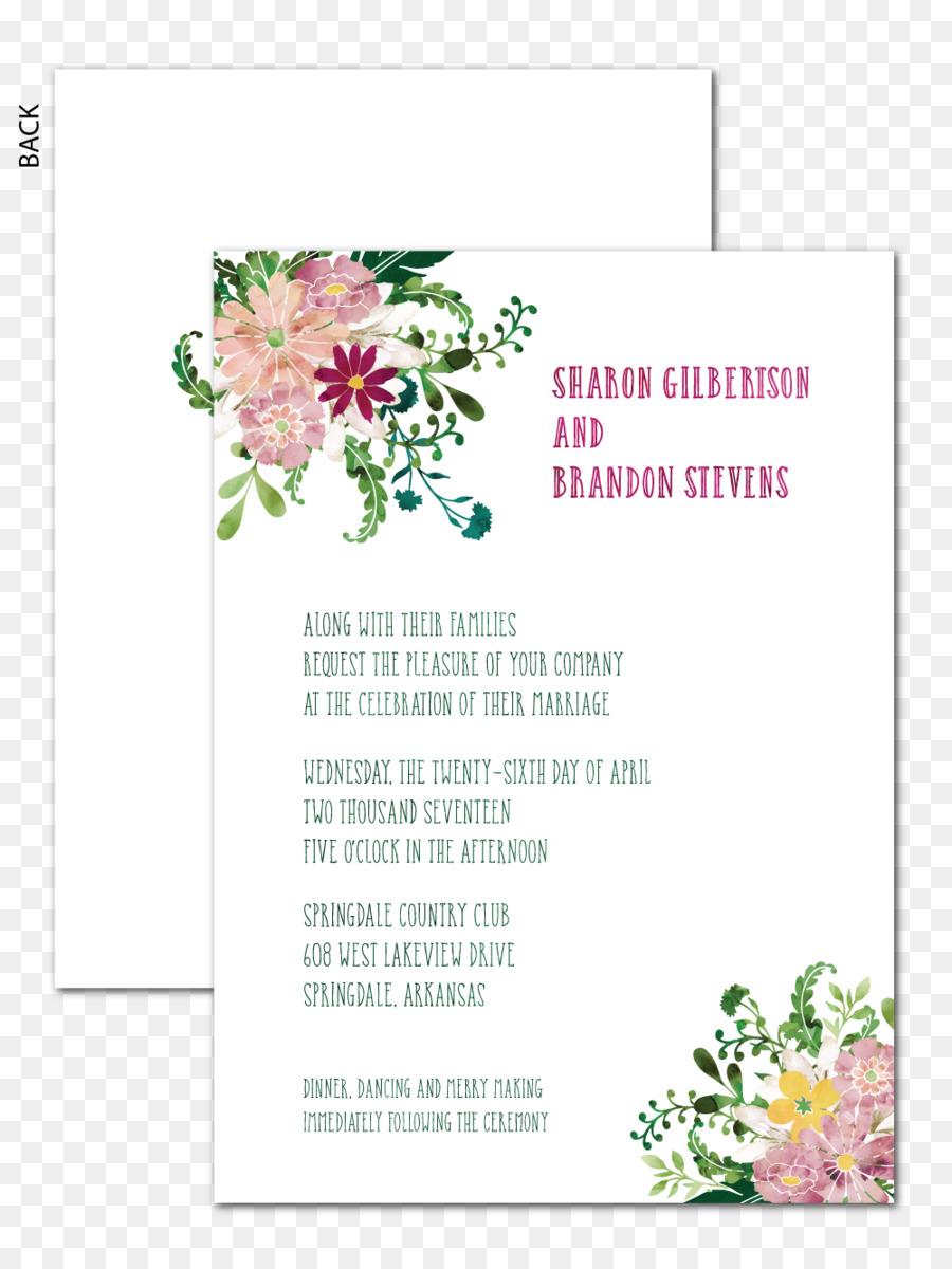 Floral Design Hochzeit Einladung Papier Blumen Strauss Platz Karten