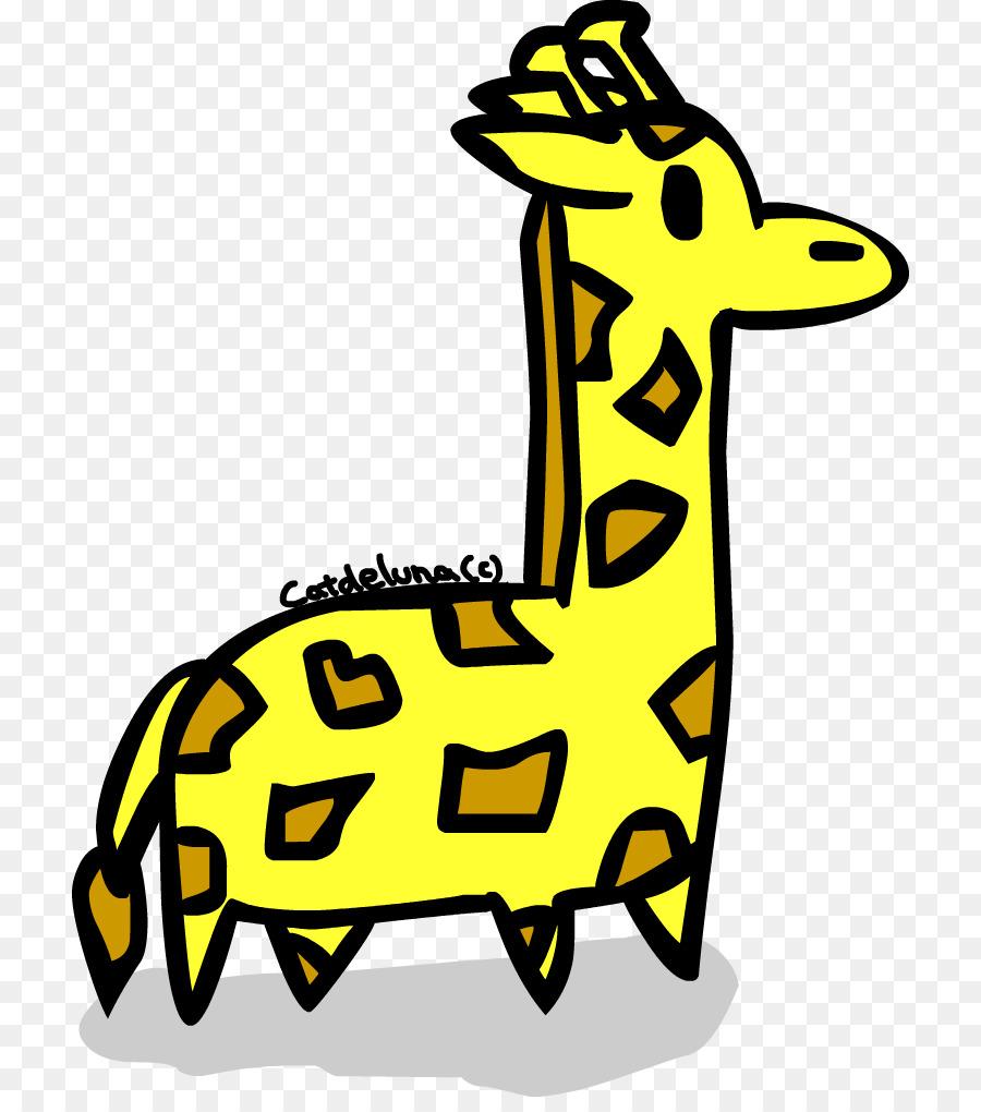 Jerapah Putih Kartun Hewan Darat Clip Art Jerapah Unduh Kuning
