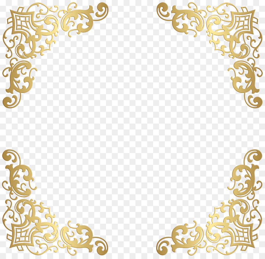 Decorative Corners Borders And Frames Clip Art Design Png Download
