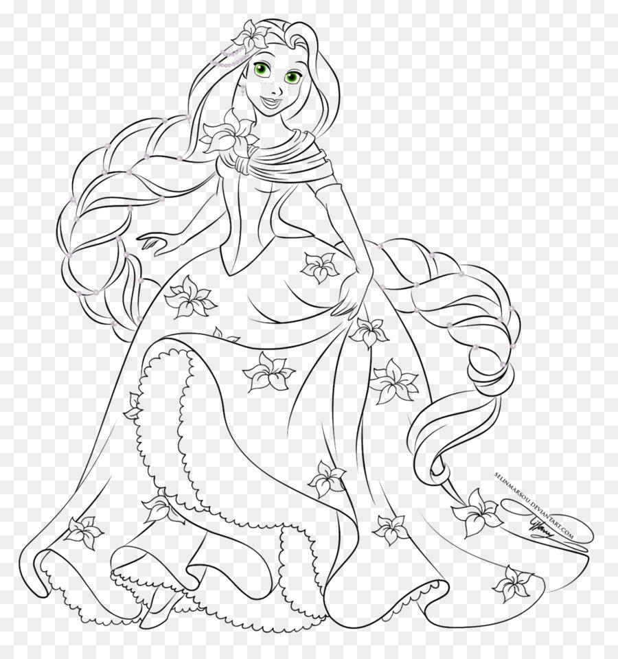 Rapunzel Belle Princesa de Disney para Colorear libro The Walt ...