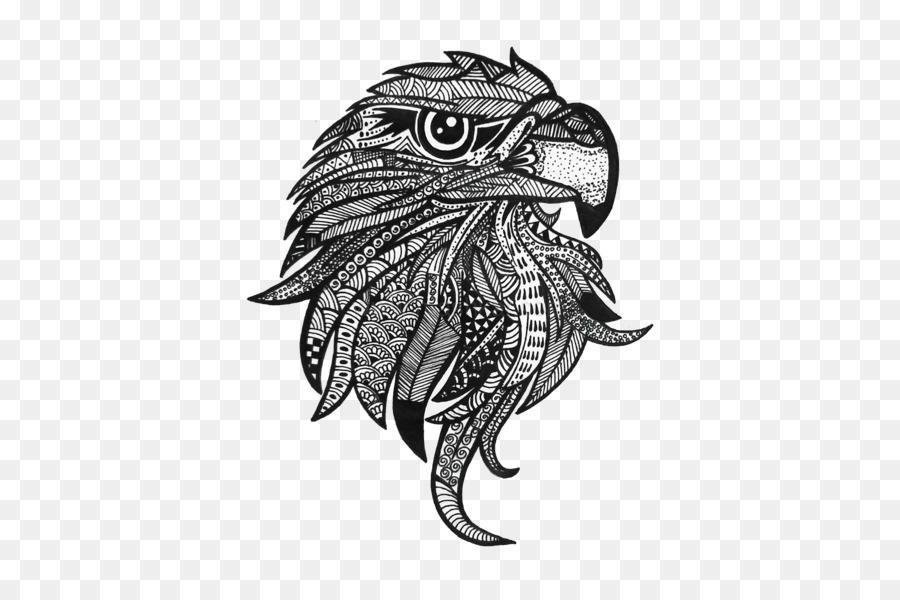 Dibujo para Colorear libro Águila - Zentangle png dibujo ...