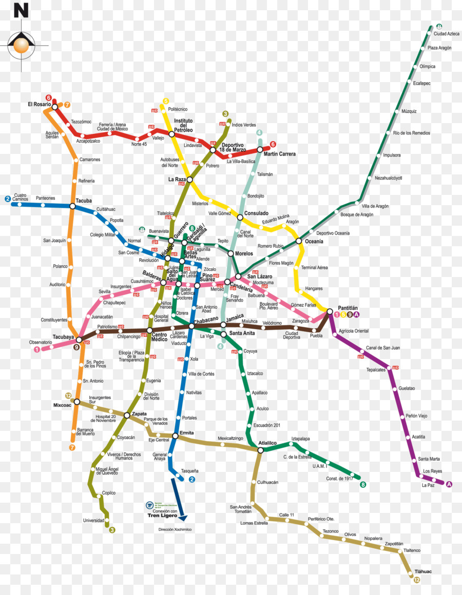 Mexco City Subway Map.Mexico City Png Download 1500 1917 Free Transparent Rapid