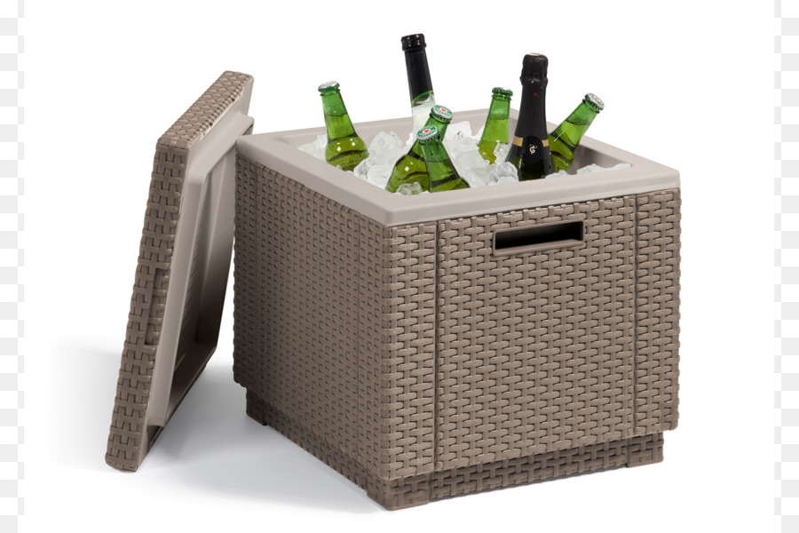 Cappuccino Table Allibert Ice Cube Cooler   Table