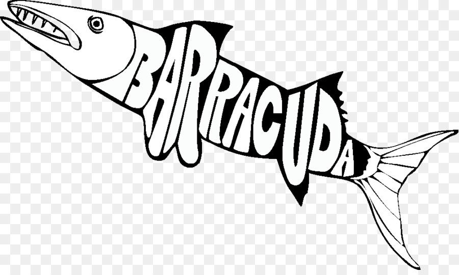 Büyük Barracuda Plymouth Barracuda Boyama Kitabı Köpekbalığı Küçük
