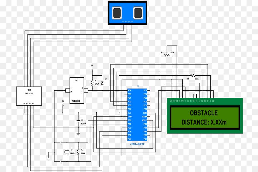 Ultrasonic Distance Meter Circuit Diagram | Ultrasound Schematic Sensor Diagram Ultrasonic Transducer Measure