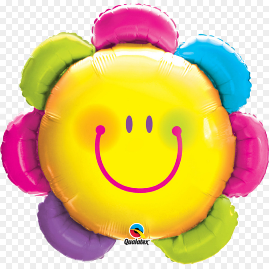 Balloon Face Flower Smiley - balloon png download - 1000*1000 - Free ...