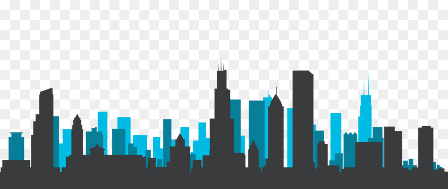 chicago skyline silhouette royalty free silhouette png download