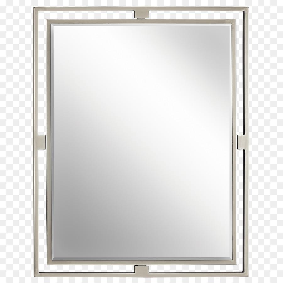 Brushed metal Mirror Picture Frames Nickel Bathroom - mirror png ...