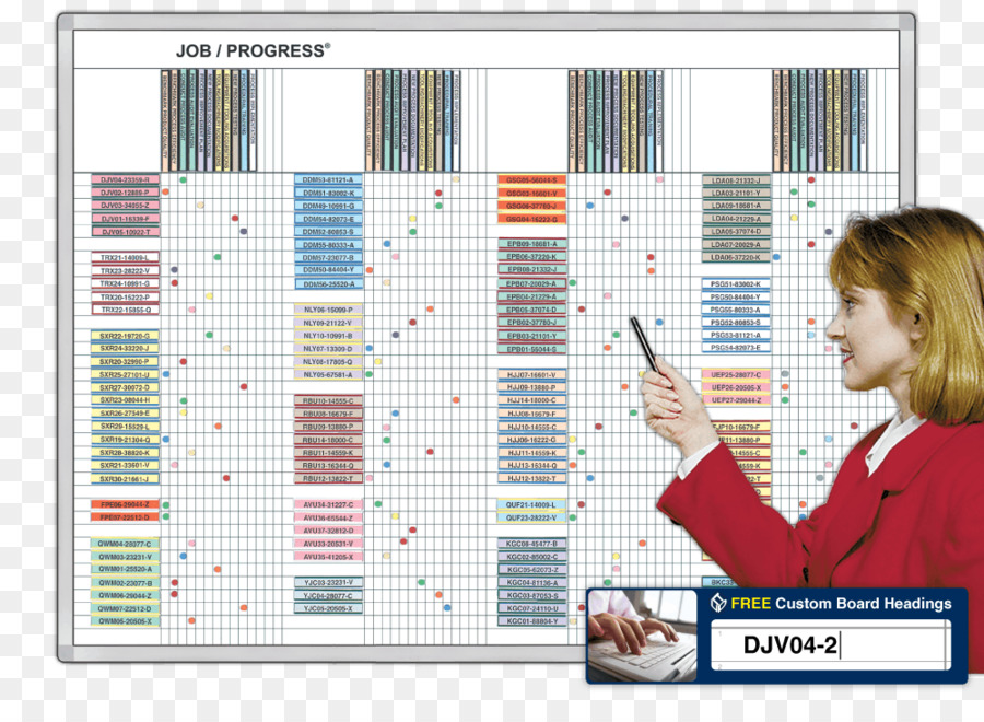 Dry Erase Boards Magnatag Job Progress Chart Process Whiteboard Png 1000 712 Free Transpa Dryerase