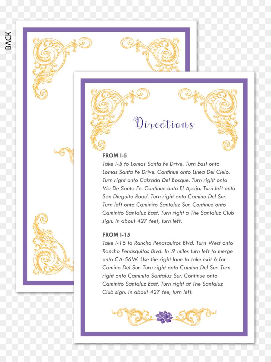 Paper Wedding invitation Wedding reception Printing - Invitation ...