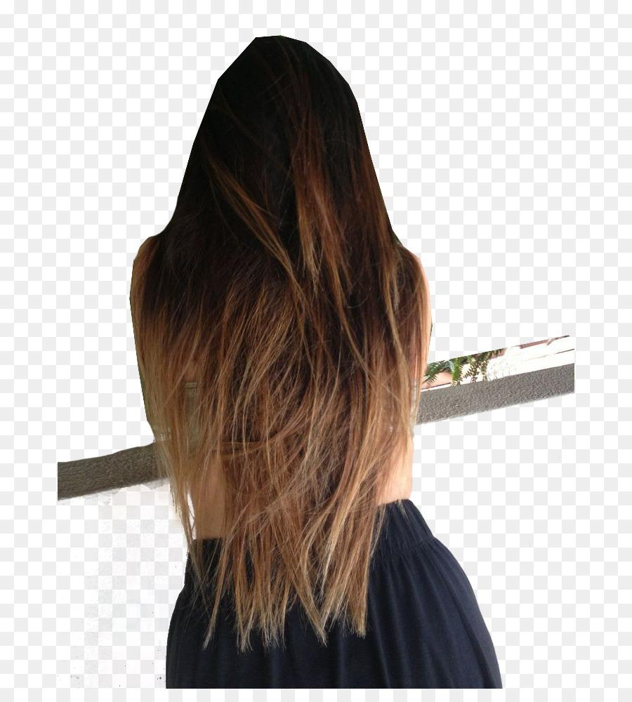 Dip Dye Brown Hair Ombr Blond Hair Png Download 736981 Free