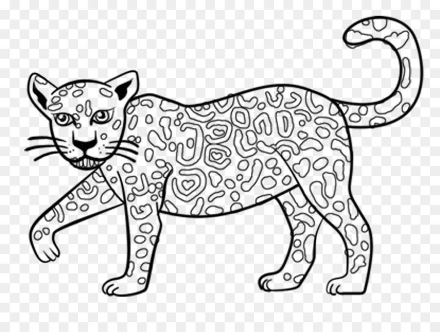 Jaguar libro para Colorear Infantiles de Dibujo - jaguar Formatos De ...