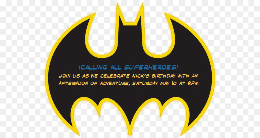 Batman Batgirl Convite Party Superhero Batman Invitation Png