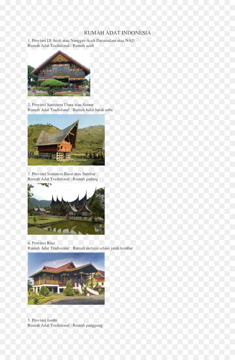42 Koleksi Gambar Rumah Adat Yang Ada Di Sumatera Utara Terbaru