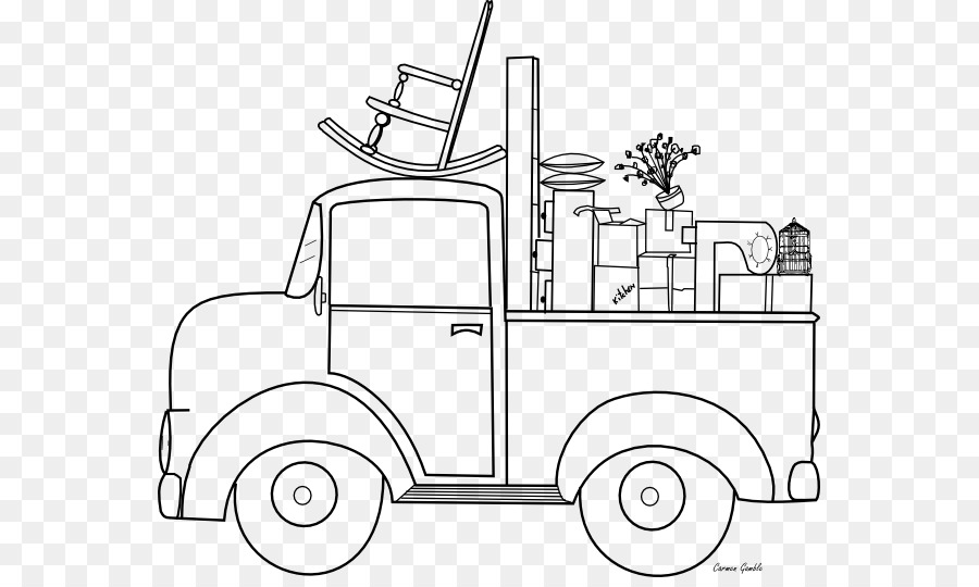 Empresa de mudanzas libro para Colorear de la camioneta - camión png ...