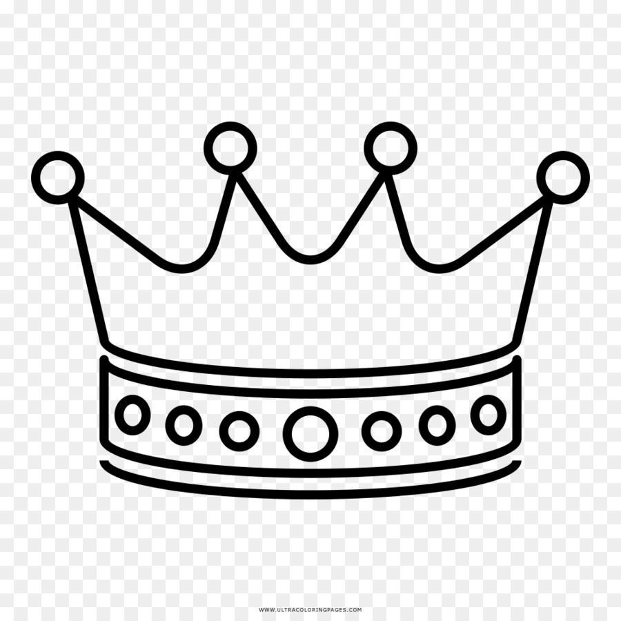 Dibujo para Colorear libro de la Corona en blanco y Negro - corona ...